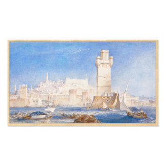 Rhodes Joseph Mallord William Turner waterscape Double-Sided Standard Business Cards (Pack Of 100)