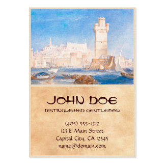 Rhodes Joseph Mallord William Turner waterscape Large Business Cards (Pack Of 100)