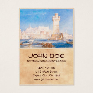 Rhodes Joseph Mallord William Turner waterscape Business Card