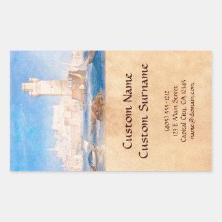Rhodes Joseph Mallord William Turner waterscape Rectangular Sticker