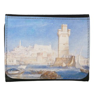 Rhodes Joseph Mallord William Turner waterscape Leather Trifold Wallet