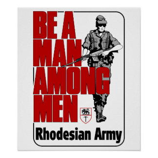 Rhodesian Army Poster