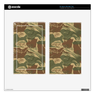 Rhodesian Camo Decals For Kindle Fire