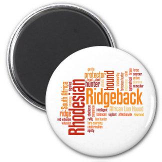 Rhodesian Ridgeback 2 Inch Round Magnet
