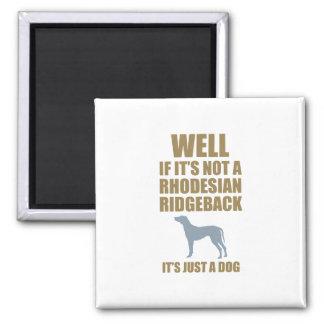 Rhodesian Ridgeback 2 Inch Square Magnet