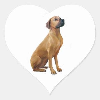 Rhodesian Ridgeback (A) Heart Stickers