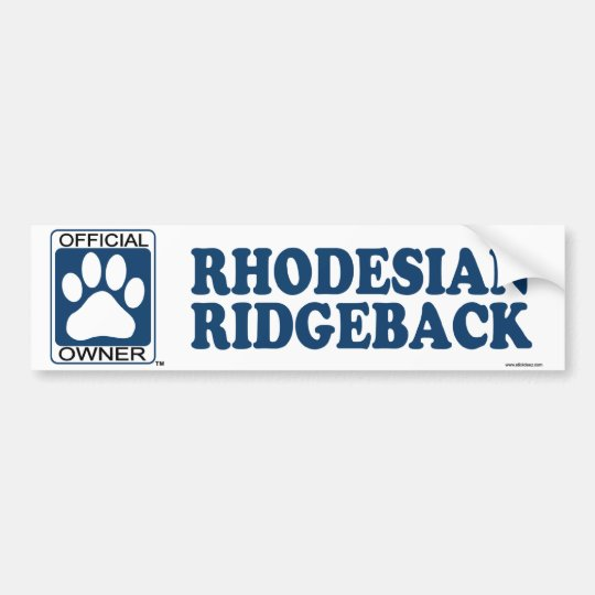 RHODESIAN RIDGEBACK_Blue Bumper Sticker