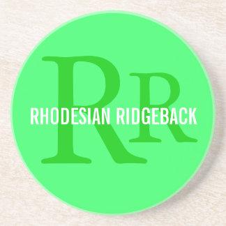 Rhodesian Ridgeback Breed Monogram Sandstone Coaster