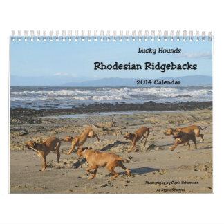 Rhodesian Ridgeback Calendar 2014