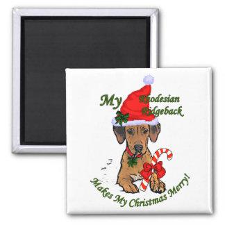 Rhodesian Ridgeback Christmas Gifts 2 Inch Square Magnet