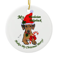 Rhodesian Ridgeback Christmas Gifts Ornament ornament