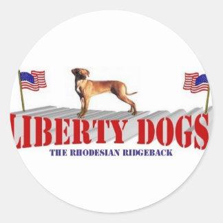 Rhodesian Ridgeback Classic Round Sticker