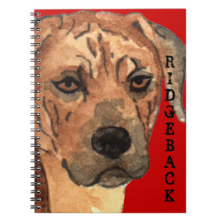Rhodesian Ridgeback Color Block Spiral Notebook