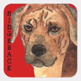 Rhodesian Ridgeback Color Block Square Sticker