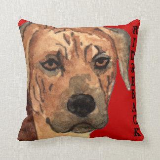 Rhodesian Ridgeback Color Block Throw Pillow