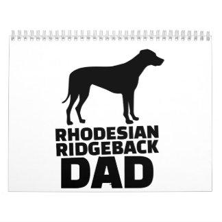 Rhodesian Ridgeback Dad Calendar