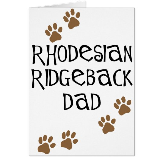 Rhodesian Ridgeback Dad Card