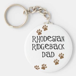 Rhodesian Ridgeback Dad Keychain