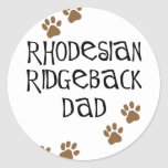 Rhodesian Ridgeback Dad Round Stickers