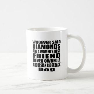 RHODESIAN RIDGEBACK DOG BEST FRIEND DESIGNS COFFEE MUG