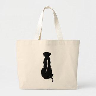Rhodesian Ridgeback Dog Breed Spine Large Tote Bag