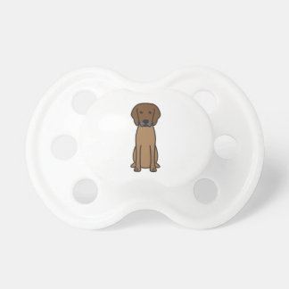 Rhodesian Ridgeback Dog Cartoon Baby Pacifier