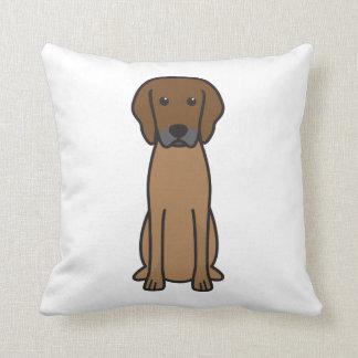 Rhodesian Ridgeback Dog Cartoon Pillow