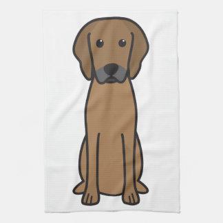 Rhodesian Ridgeback Dog Cartoon Towels
