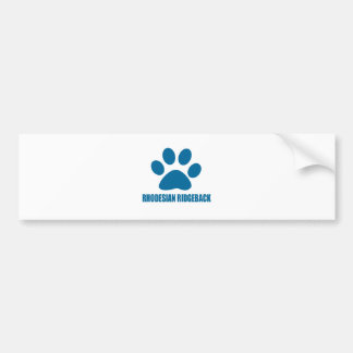 RHODESIAN RIDGEBACK DOG DESIGNS BUMPER STICKER