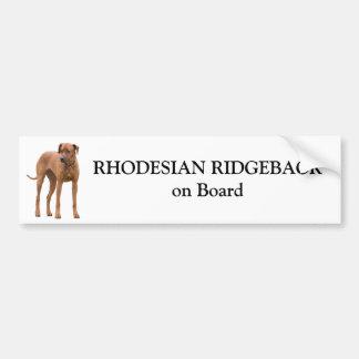 Rhodesian Ridgeback dog on board custom sticker Car Bumper Sticker