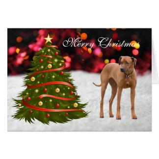 Rhodesian Ridgeback dog tree custom Christmas Card
