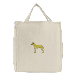 Rhodesian Ridgeback Embroidered Tote Bag