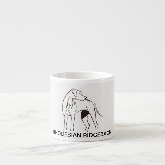 rhodesian ridgeback espresso cup