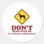 Rhodesian Ridgeback Etiqueta Redonda
