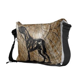 Rhodesian Ridgeback farrowed Wood Large Messenger Bag