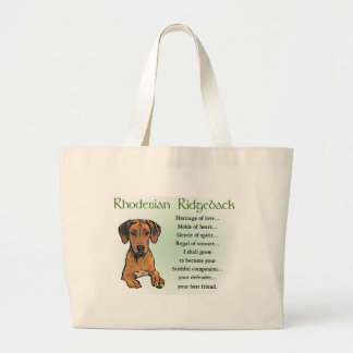 Rhodesian Ridgeback Gifts Large Tote Bag