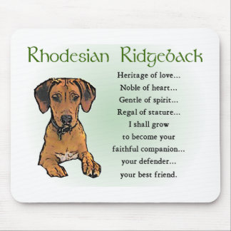 Rhodesian Ridgeback Gifts Mouse Pad