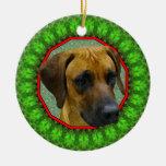 Rhodesian Ridgeback Happy Howliday Christmas Tree Ornaments