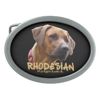 Rhodesian Ridgeback Hebillas De Cinturón Ovales