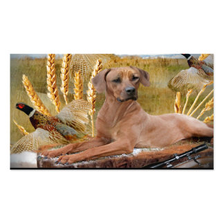 Rhodesian Ridgeback Hunts Double-Sided Standard Business Cards (Pack Of 100)