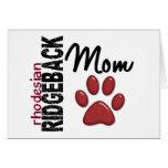Rhodesian Ridgeback Mom 2 Greeting Card