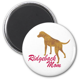 Rhodesian Ridgeback Mom 2 Inch Round Magnet