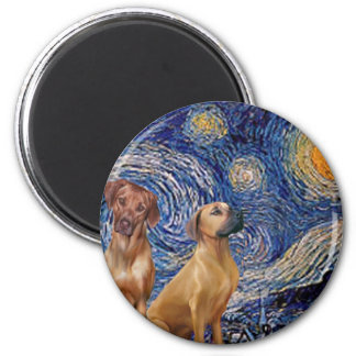 Rhodesian Ridgeback Pair - Starry Night Magnet