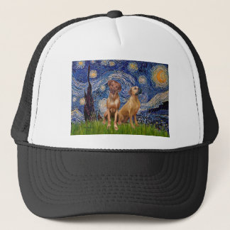 Rhodesian Ridgeback Pair - Starry Night Trucker Hat