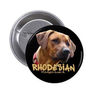 Rhodesian Ridgeback Pin Redondo De 2 Pulgadas