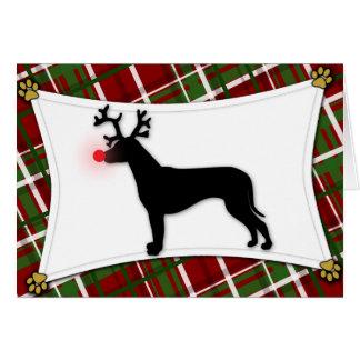 Rhodesian Ridgeback Reindeer Christmas Card