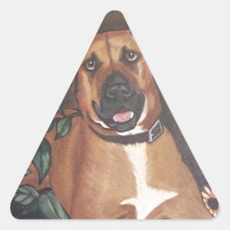 Rhodesian Ridgeback Triangle Stickers