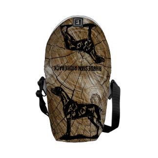 Rhodesian Ridgeback Wood farrowed Messenger Bag