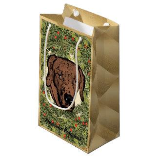 Rhodesian Ridgeback Wreath Small Gift Bag