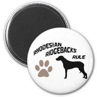 Rhodesian Ridgebacks Rule 2 Inch Round Magnet